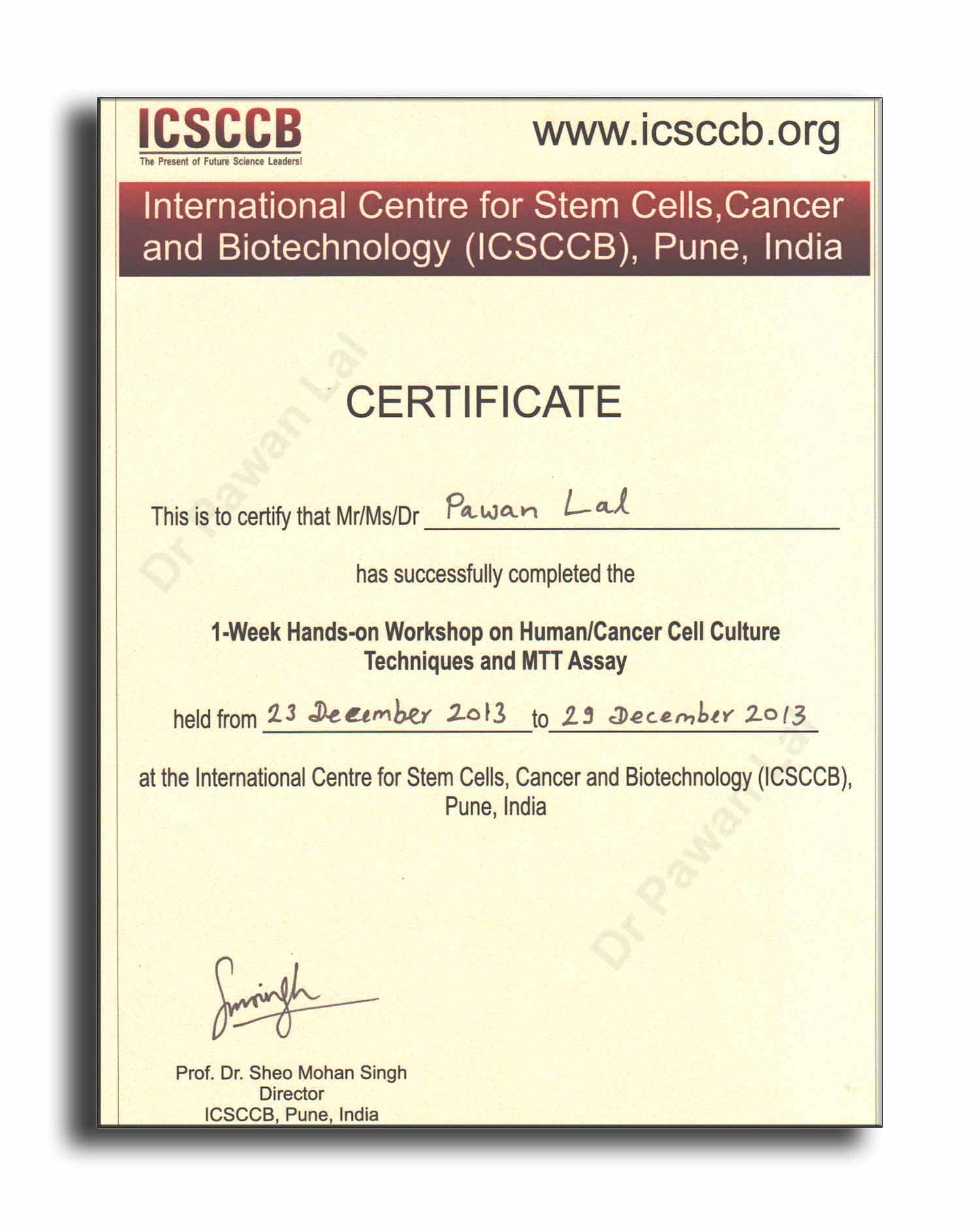 Biotechnology Certificate Best Design Sertificate 2018